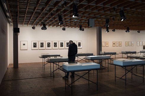 Installation view of Art and Migration 1933-1945: Documents and Objects from the Academy Archive