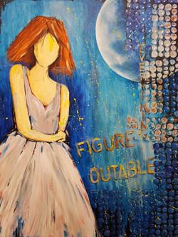 Figureoutable, acrylic on canvas, 80x60x3cm. CHF 580.-