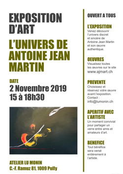 Exposition L'Univers de Antoine Jean Martin'Art Lu Monin