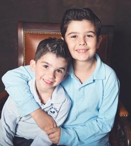 Boys Siblings School Portrait