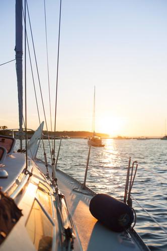 Sailing starboard side