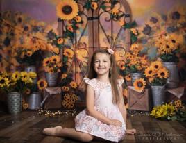 Girl in Sunflowers, Studio, School Pictures