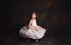 Fine art portrait of a little girl