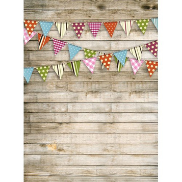 Birthday Flag Banner Background