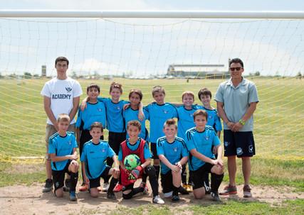 Soccer team at Miller Field
