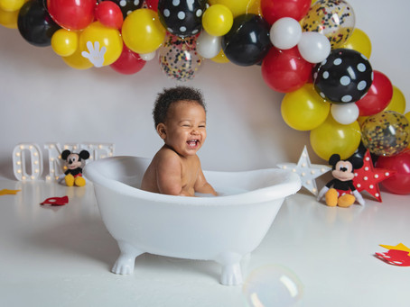 MICKEY MOUSE CAKE SMASH, Holmdel, NJ Portrait Studio