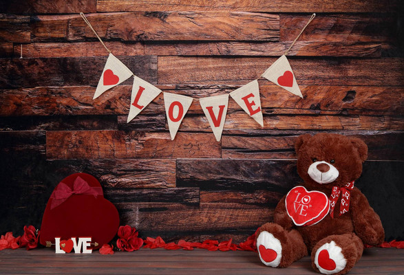 Love Valentines Backdrop