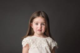 Portrait of a Girl in Photo Studio