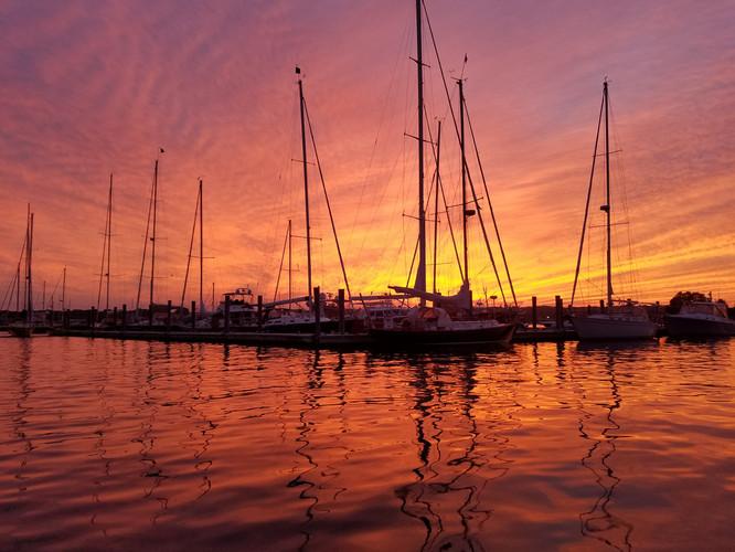 Golden Hour sailboats