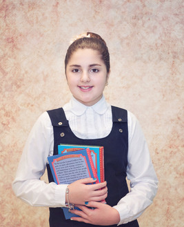 School Picture, Girl with Books