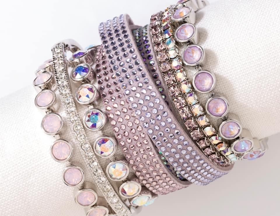 Swarovski Wrap and Ice Bracelets