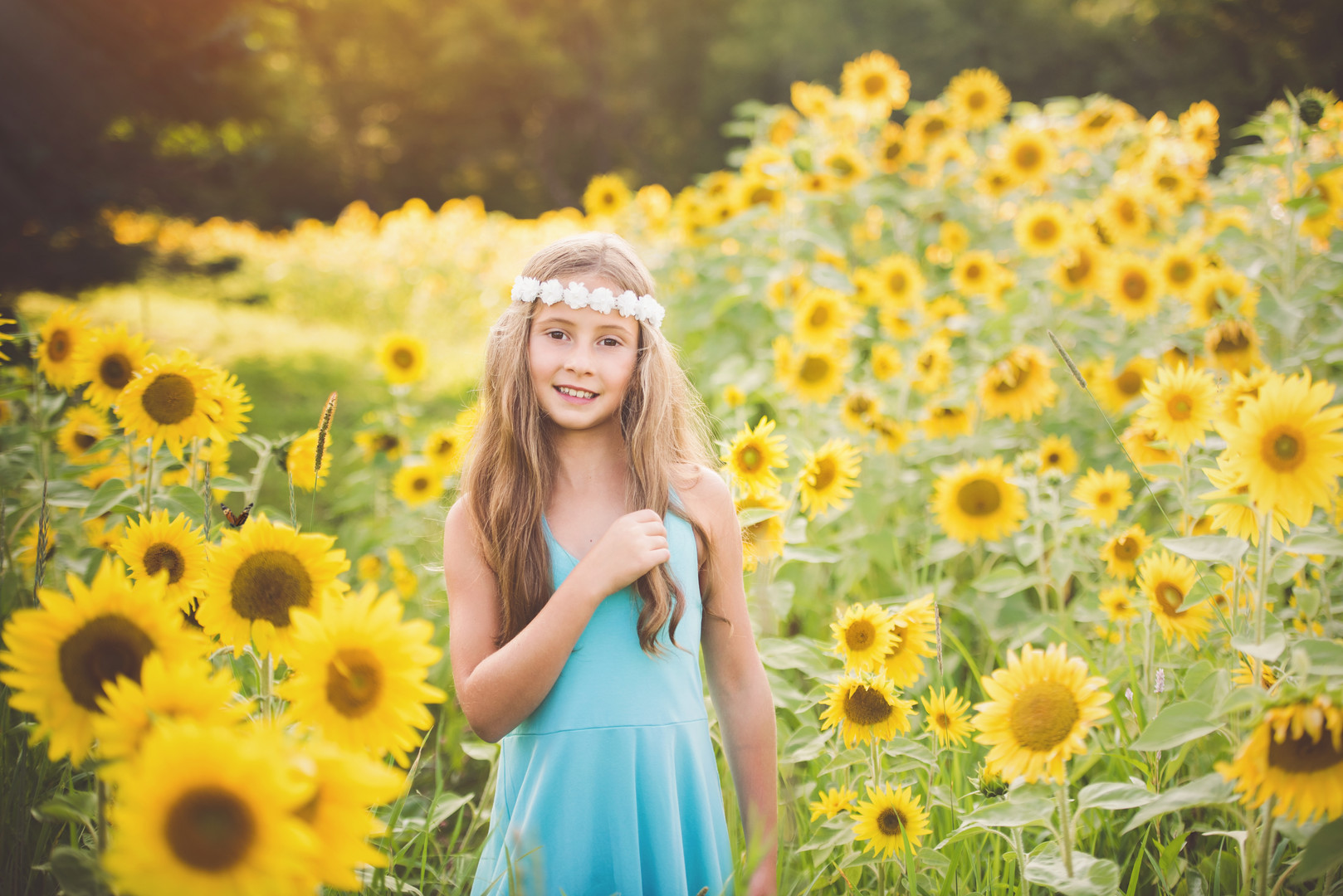 Sunflower Field Portrait