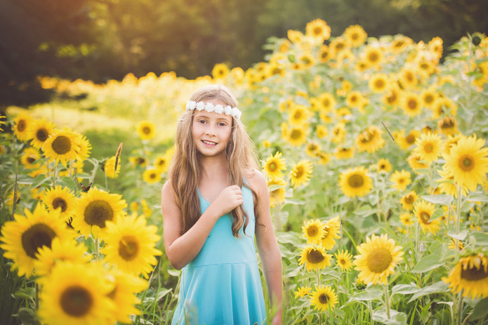 Sunflower Field Portrait