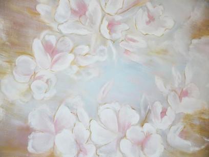 Beige Pink Floral Background