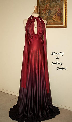Ombre maternity dress in red