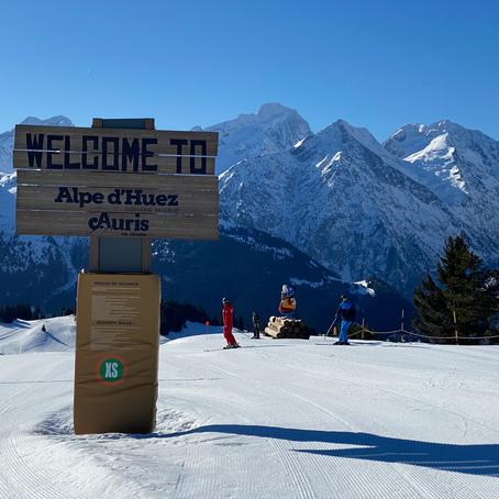 Wintersport in Alpe d'Huez, Frankrijk