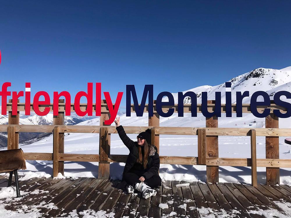 Wintersport in Les Menuires, Frankrijk