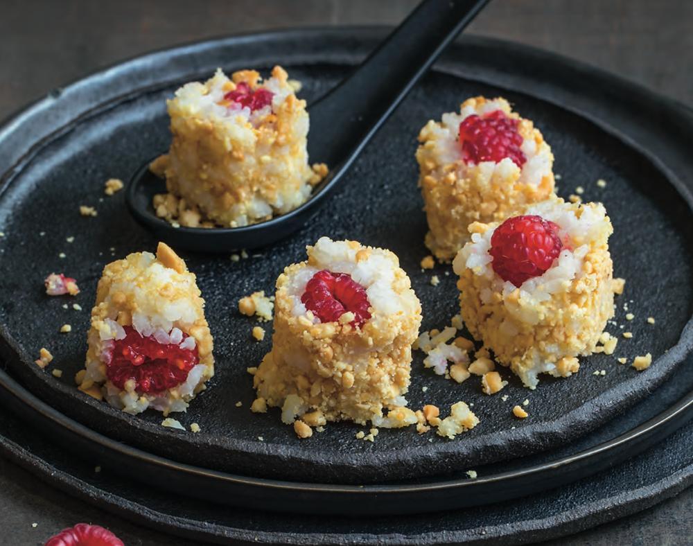 Recept-Feestelijke-Frambozensushi-dessert