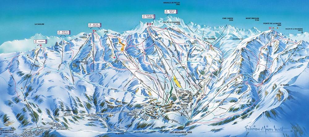 Wintersport-in-Les-Menuires-Frankrijk