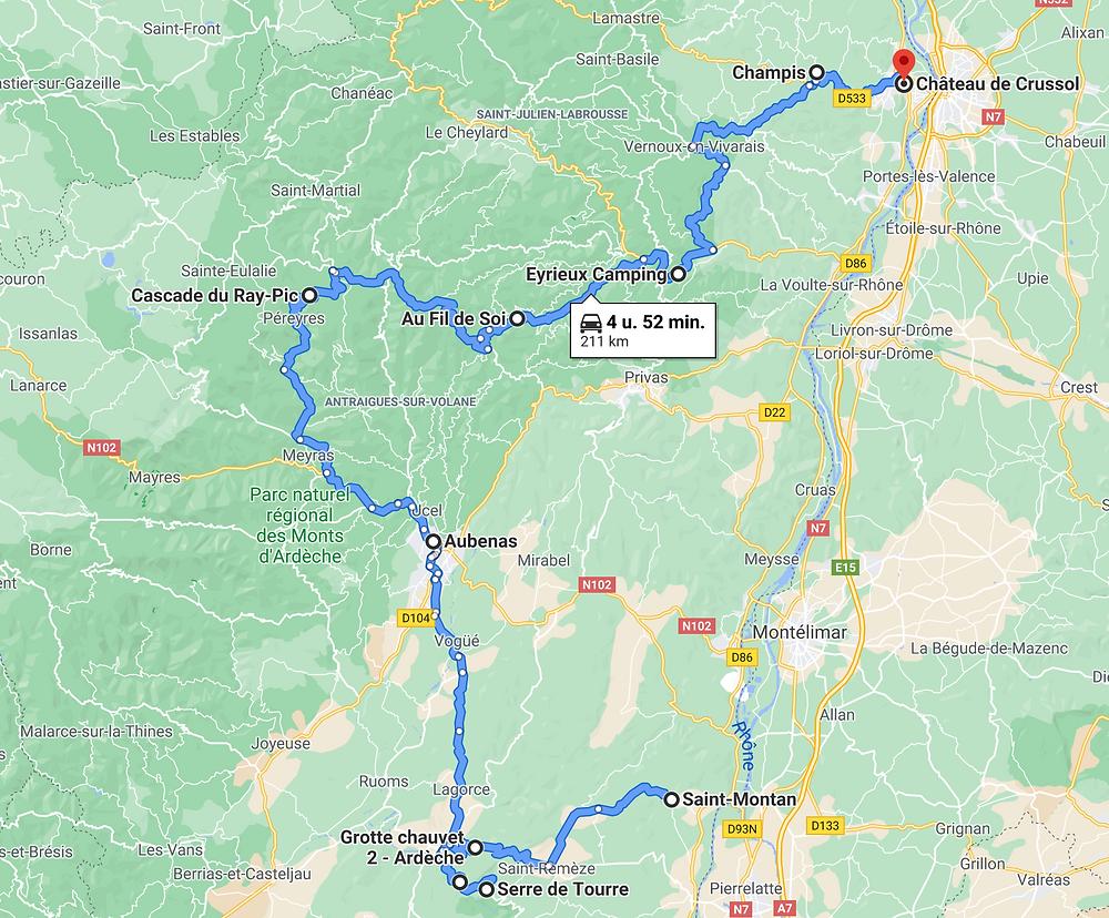 route-door-de-Ardeche-Frankrijk