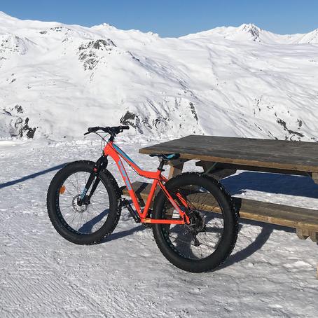 Met een fatbike door de sneeuw