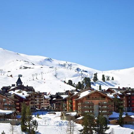 Wintersport in Les Arcs, Frankrijk