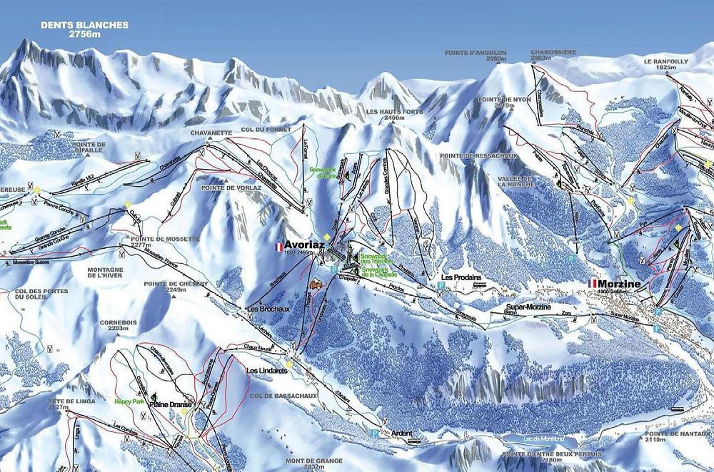 wintersport-Avoriaz-Frankrijk