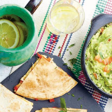 Recept: Quesadilla's met tomaat, paprika en pittige guacamole