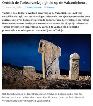 Spreker op de vakantiebeurs voor het Turks tourisme bureau