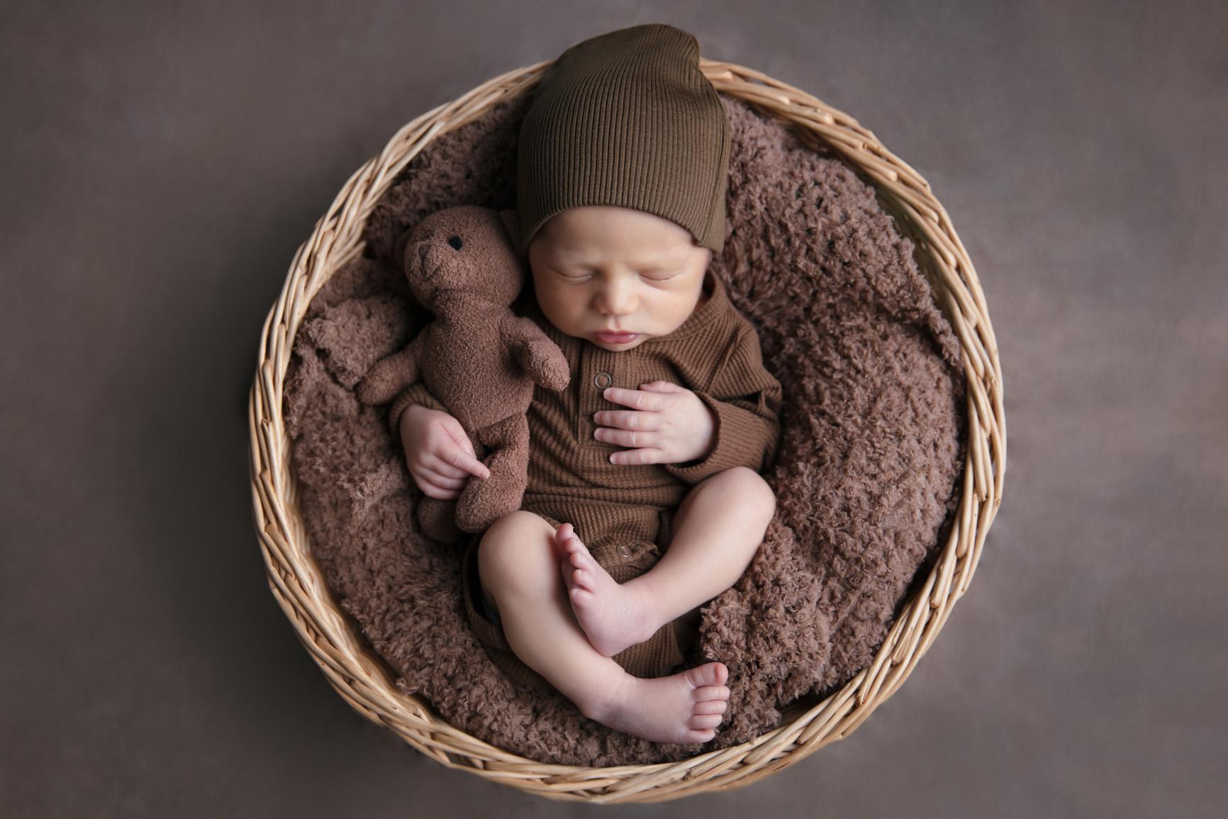 newborn baby boy brown