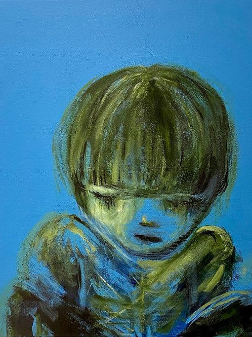 Lonely Boy - Giclée (40x50cm) - gratis verzendkosten + certificaat