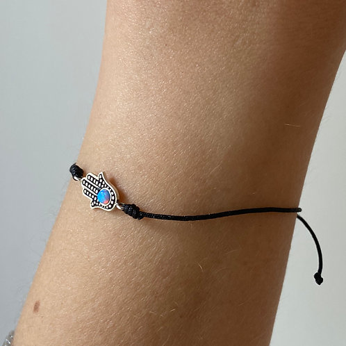 Armband - Hamsa handje (zilver)
