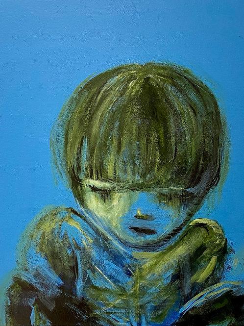 Lonely Boy - (acryl op doek 40x50cm)
