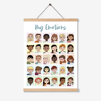 My Emotions: Printable Emotion Chart School Counseling Teletherapy Play Therapy