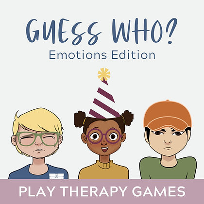 Guess Who? Emotions Edition with Companion Cards, Play Therapy Teletherapy Games