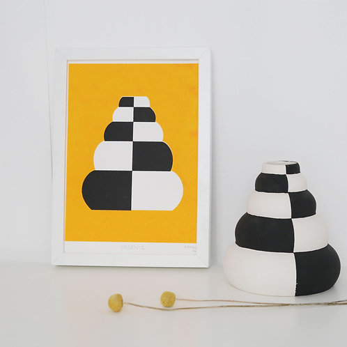 Screenprint of a Vase