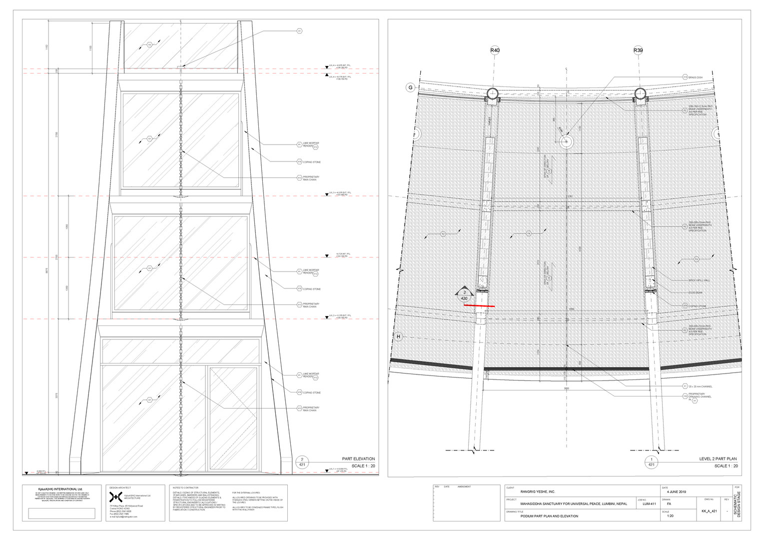 KK_A_421 Podium Part Plan and Elevation.