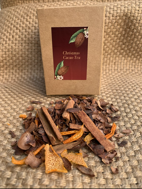 Christmas cacao tea