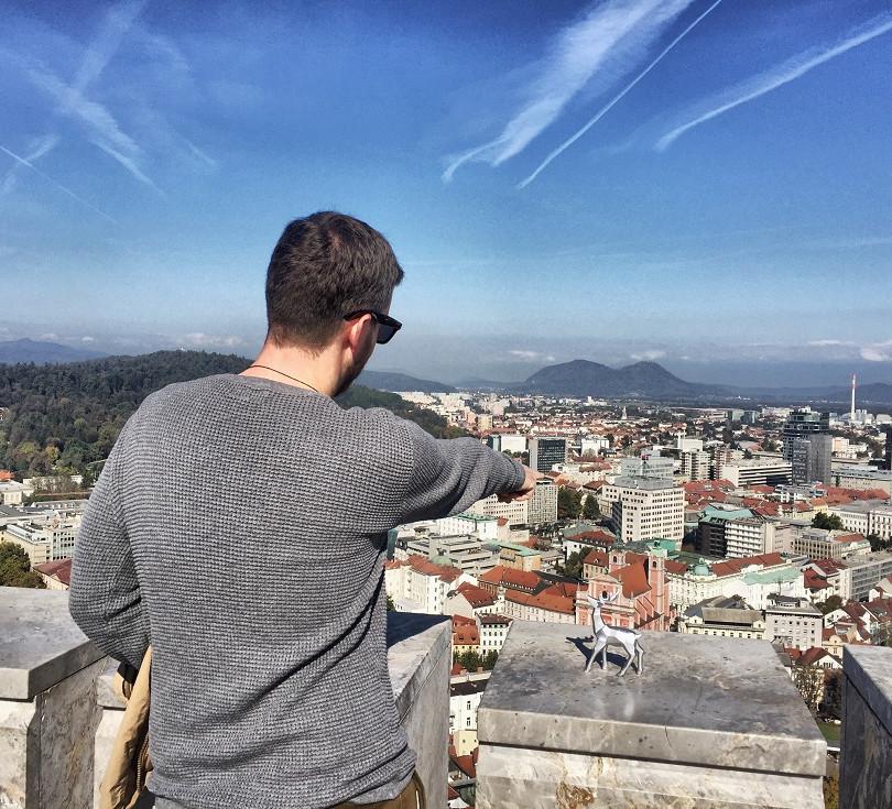 Výhled z hradní věže