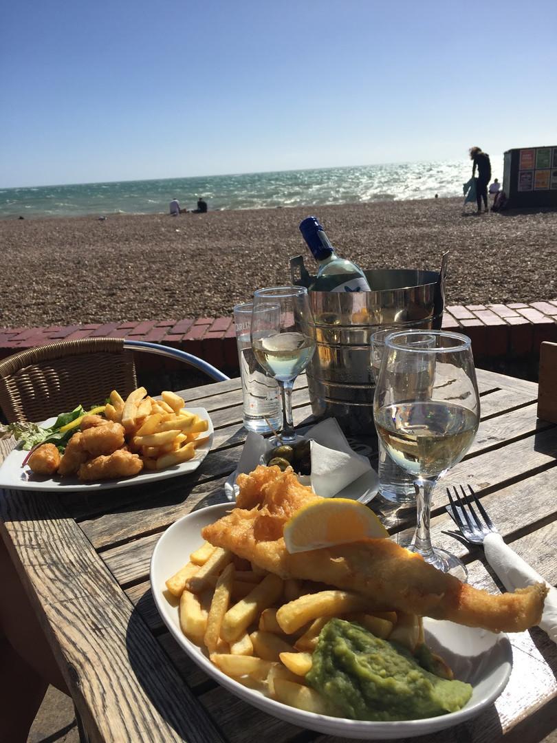 Fish & Chips na Brighton Beach