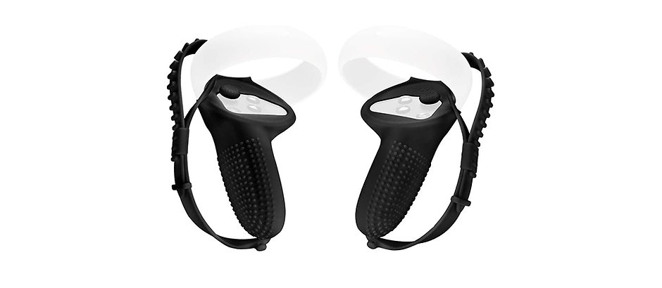 Silicone Grip with Backhand Strap for Oculus Quest 2 Controllers