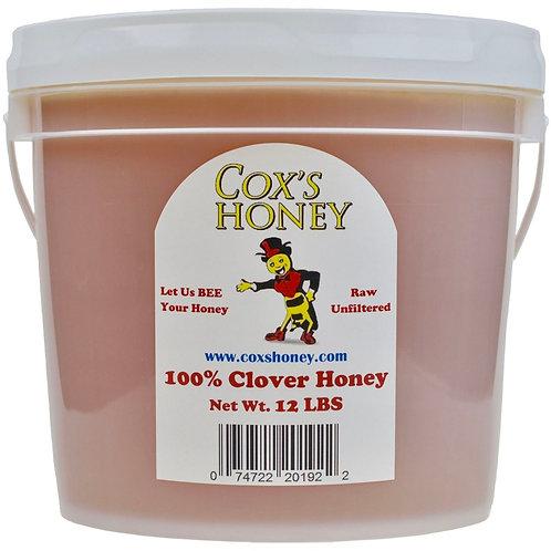 12 lb Raw Clover Honey Bucket