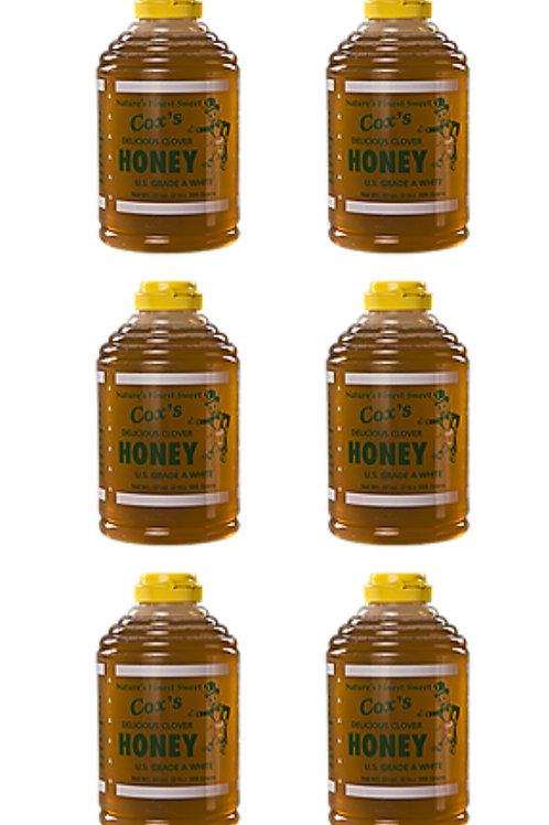 32 oz Raw Clover Honey Half Case