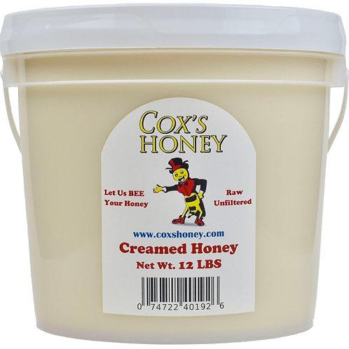 12 lb Raw Creamed Honey Bucket