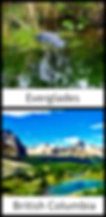 Everglades and British Columbia