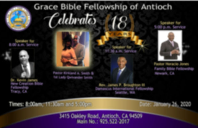 Grace Bible Fellowship of Antioch ( 18 Y