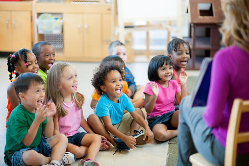 preschool group happy to be together