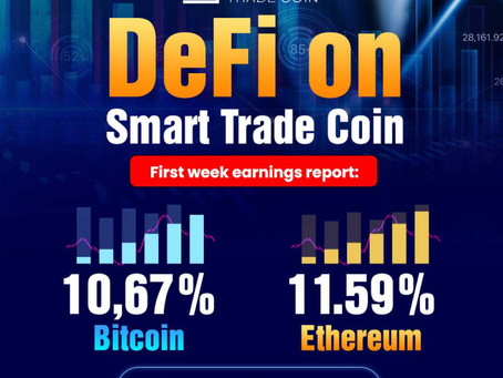 DeFi on Smart Trade GO - Profit report from the first week of work of the STC team and mine