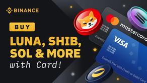 Buy LUNA SHIB and SOL Tokens Directly Using Your Credit/Debit Card on Binance Exchange sierackimilos