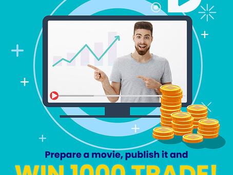 New Competition! Prepare a movie, publish it and win 1000 TRADE! Smart Trade Coin GO-Bitcoin trading
